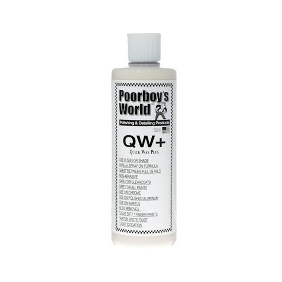 Poorboy's World Quick Wax Plus (QW+) detailer i wosk w jednym 473ml