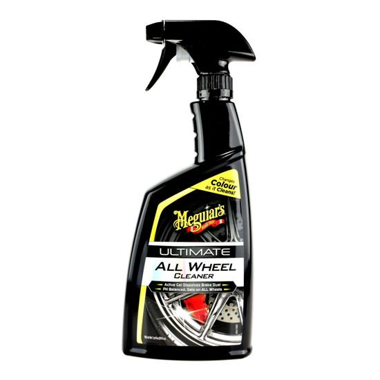 Zestaw: Meguiars Ultimate All Wheel Cleaner do felg 709ml + pędzel i rękawiczki